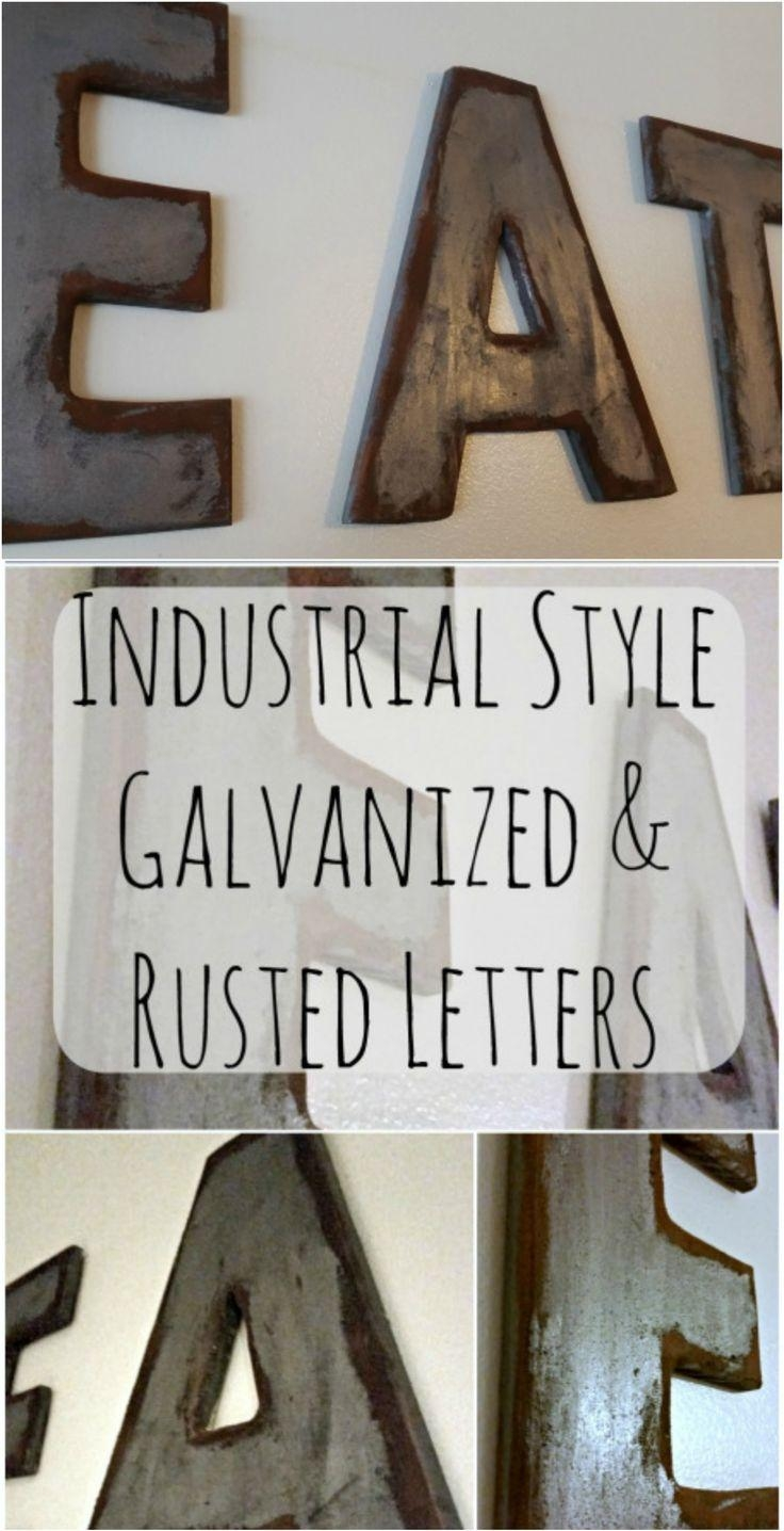 Terrific Metal Wall Letters Home Decor Zoom Metal Wall Letters Inside Decorative Metal Letters Wall Art (Image 9 of 20)