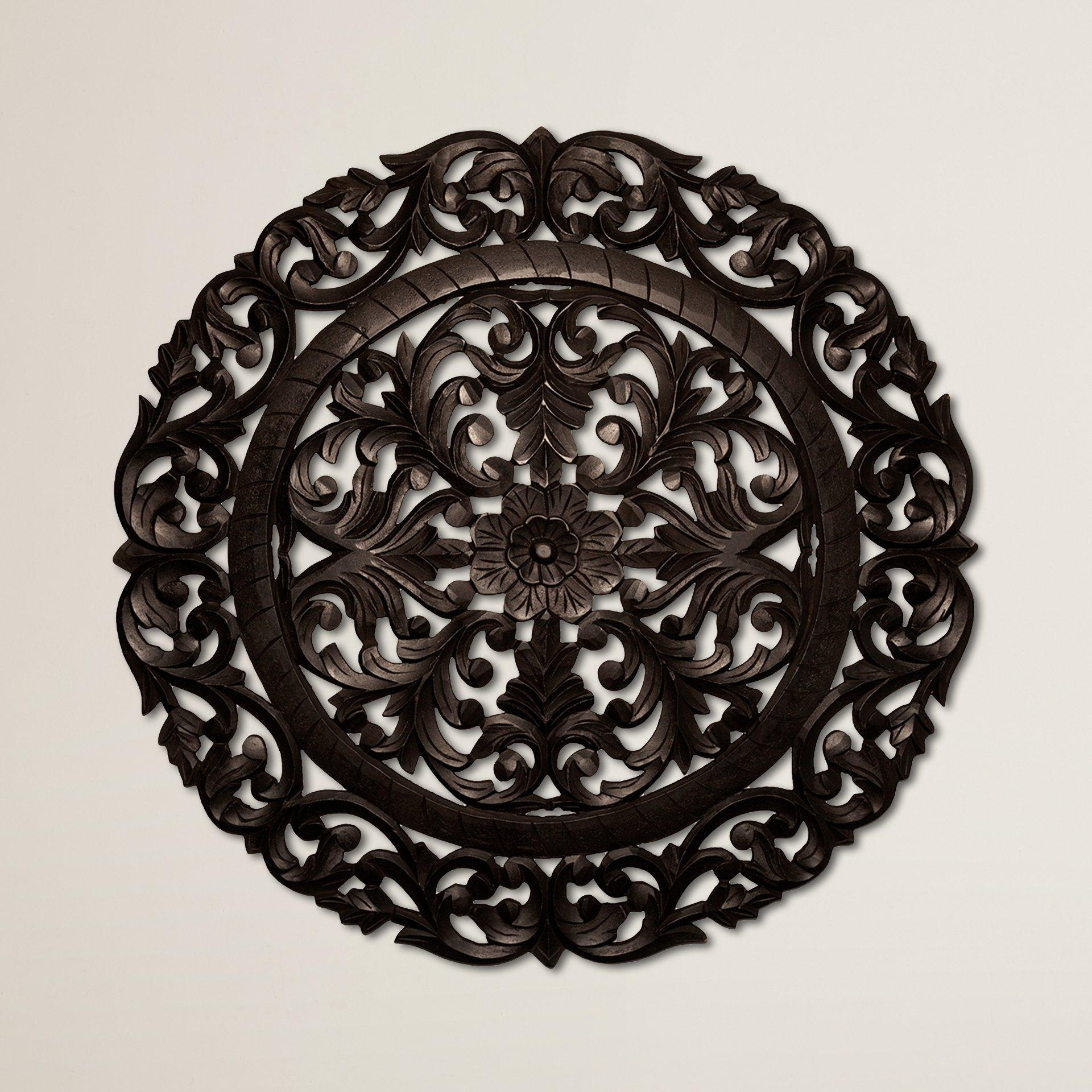 Terrific Trendy Wall Elmira Metal Wall Art Wall Decor Round Pertaining To Metal Medallion Wall Art (Image 8 of 20)