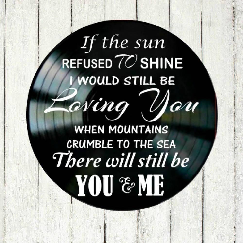 Thank You Song Lyrics Led Zeppelin Vinyl Record Wall Art Music Within Led Zeppelin Wall Art (View 16 of 20)