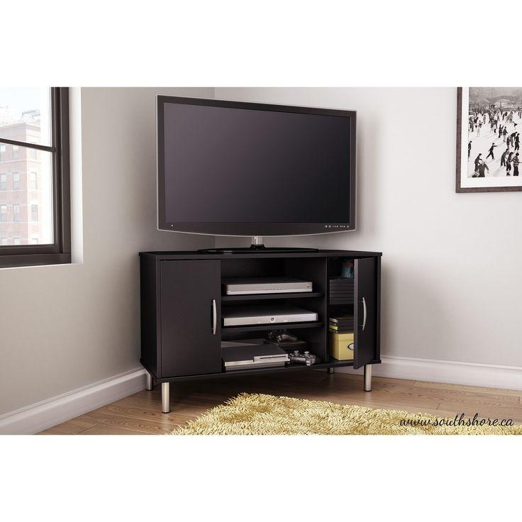 The 25+ Best Black Corner Tv Stand Ideas On Pinterest | Corner Tv With Regard To Newest Triangular Tv Stand (View 19 of 20)