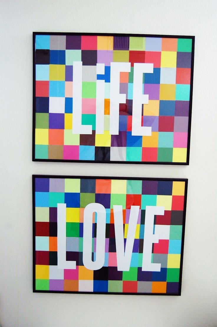 The 25+ Best Chip Art Ideas On Pinterest | Paint Chip Art, Paint In Paint Swatch Wall Art (Image 19 of 20)