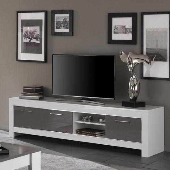 The 25+ Best High Tv Stand Ideas On Pinterest | Tv Table Stand, Tv Within Most Popular Large White Tv Stands (Image 14 of 20)