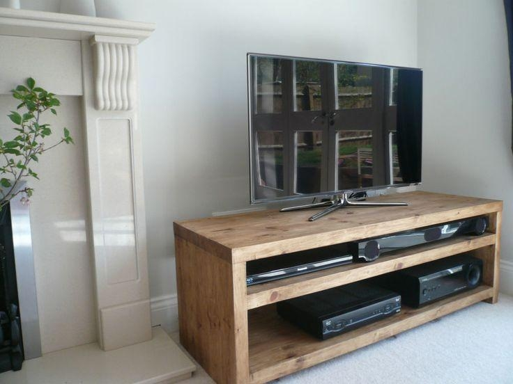 The 25+ Best Solid Wood Tv Stand Ideas On Pinterest | Wooden Tv Pertaining To 2017 Solid Wood Black Tv Stands (View 18 of 20)