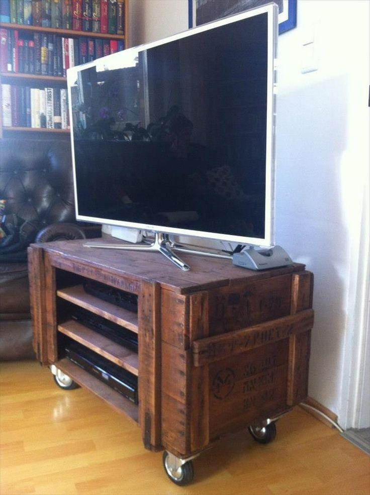 The 25+ Best Tv Stand On Wheels Ideas On Pinterest | Tv Stand With For Most Up To Date Wooden Tv Stand With Wheels (Image 18 of 20)