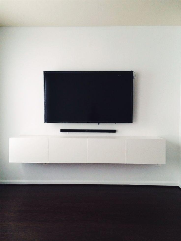 The 25+ Best Wall Mounted Tv Ideas On Pinterest | Mounted Tv Within Most Recently Released Wall Mounted Tv Cabinet Ikea (View 4 of 20)