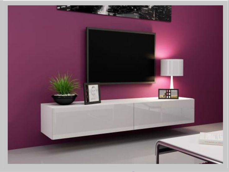 The 25+ Best White Gloss Tv Unit Ideas On Pinterest | Floating Tv For Best And Newest Tv Unit 100Cm (Image 9 of 20)