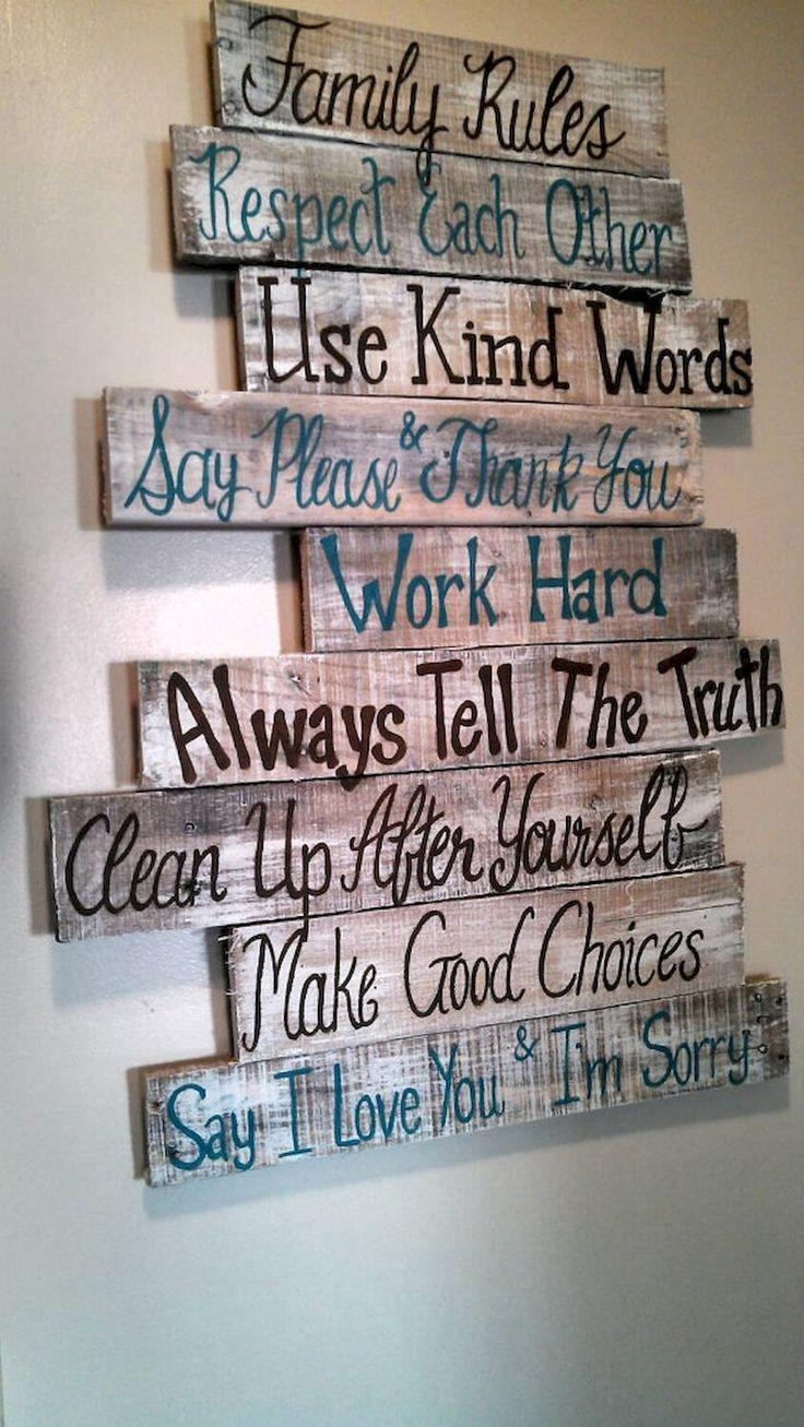 The 25+ Best Wood Signs With Quotes Ideas On Pinterest For Wooden Wall Art Quotes (Image 10 of 20)