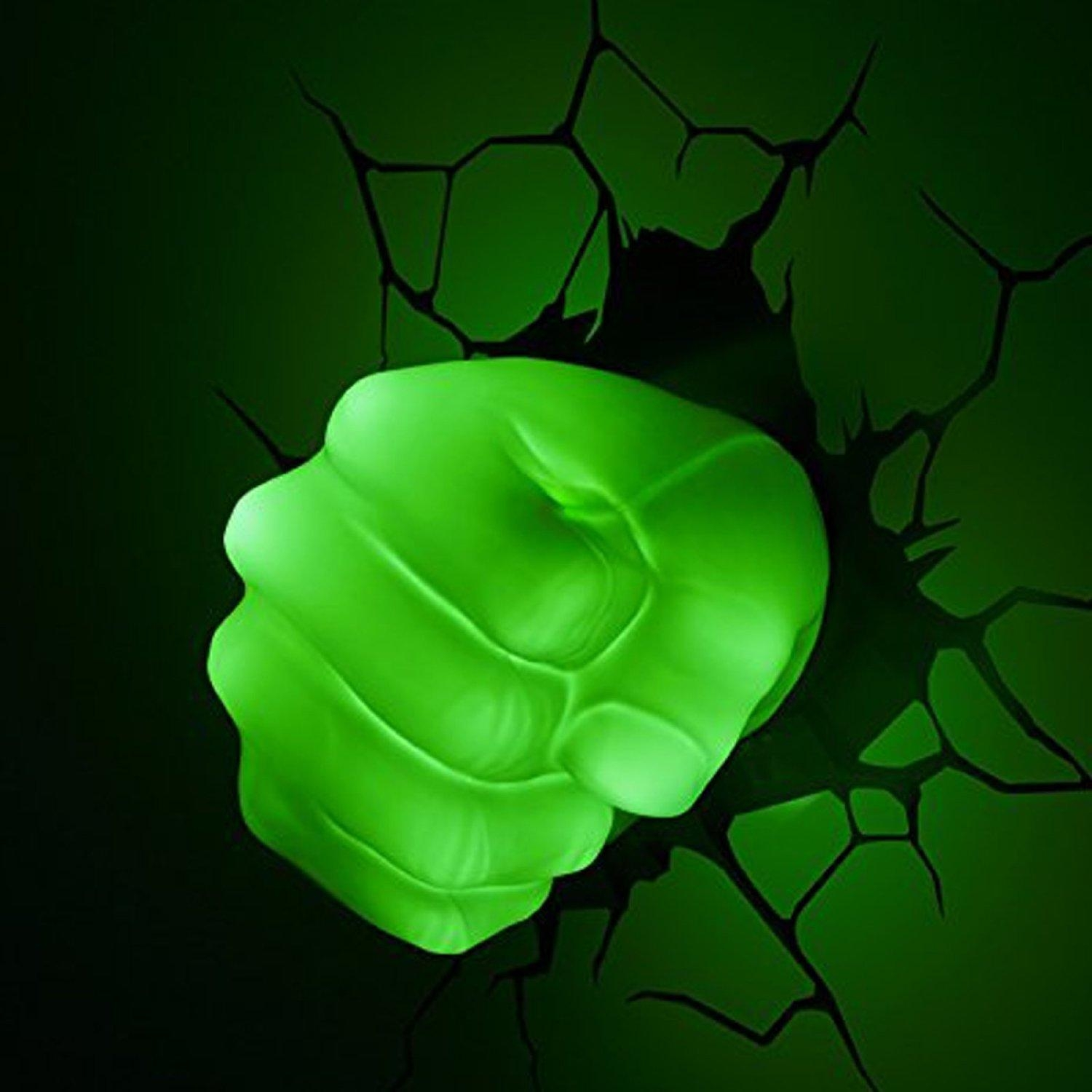 The Avengers 3D Wall Art Nightlight – Hulk Hand | This Stuff Online With The Avengers 3D Wall Art Nightlight (Image 14 of 20)