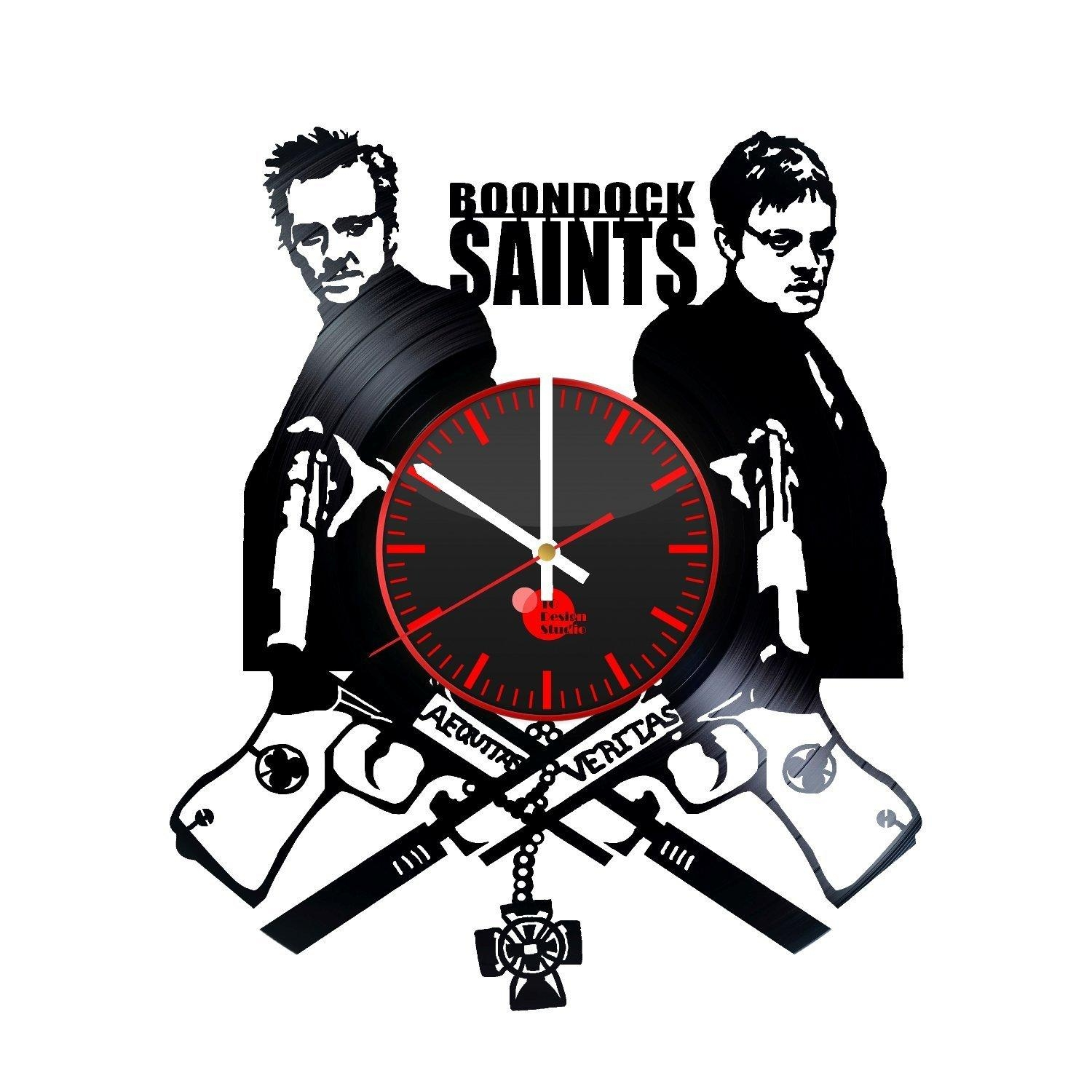 The Boondock Saints Handmade Vinyl Record Wall Clock Fan Gift For Boondock Saints Wall Art (Image 16 of 20)