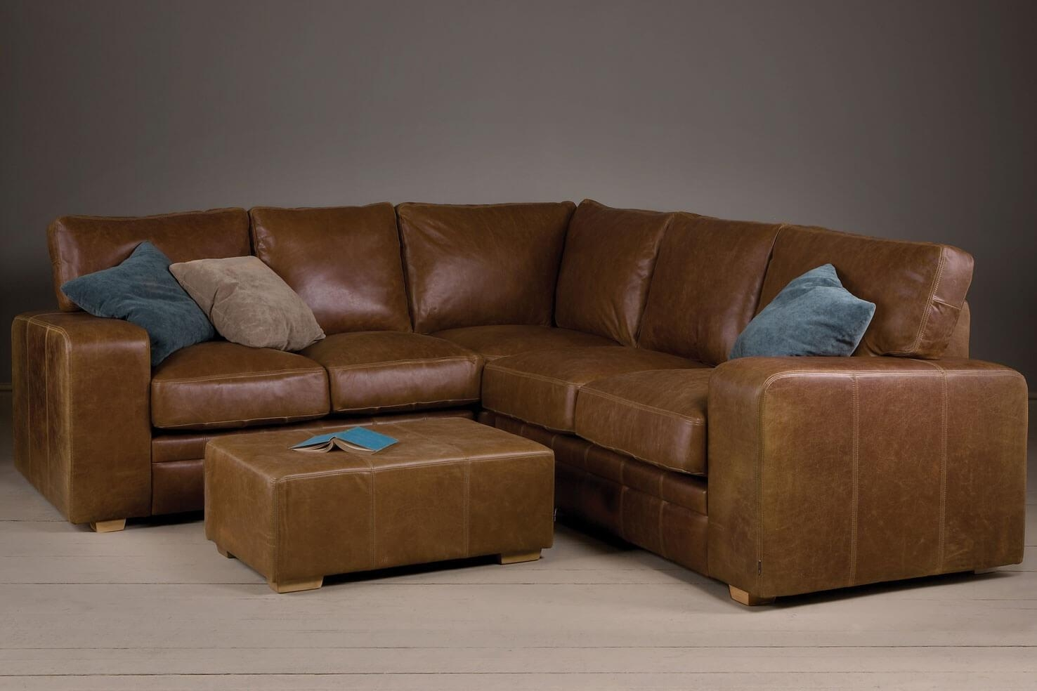 Small Brown Leather Corner Sofa Cute Brown Leather Corner