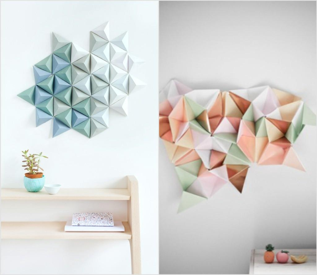 The Contemporary Diy Wall Art Guide: – Lorelai Vano – Medium Within Diy Origami Wall Art (View 17 of 20)