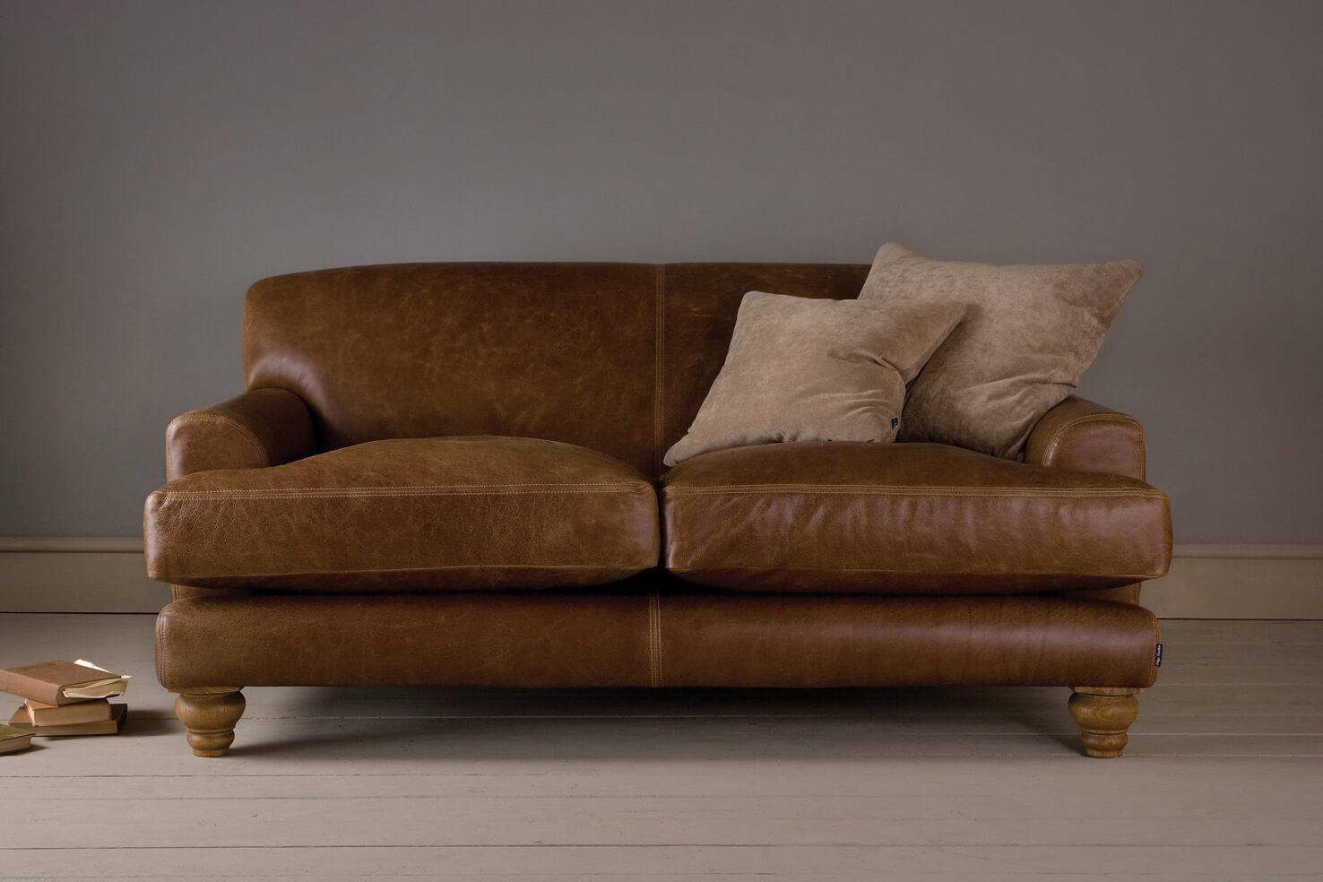 The English Low Arm Leather Sofaindigo Furniture Throughout Leather Sofas (Image 21 of 21)