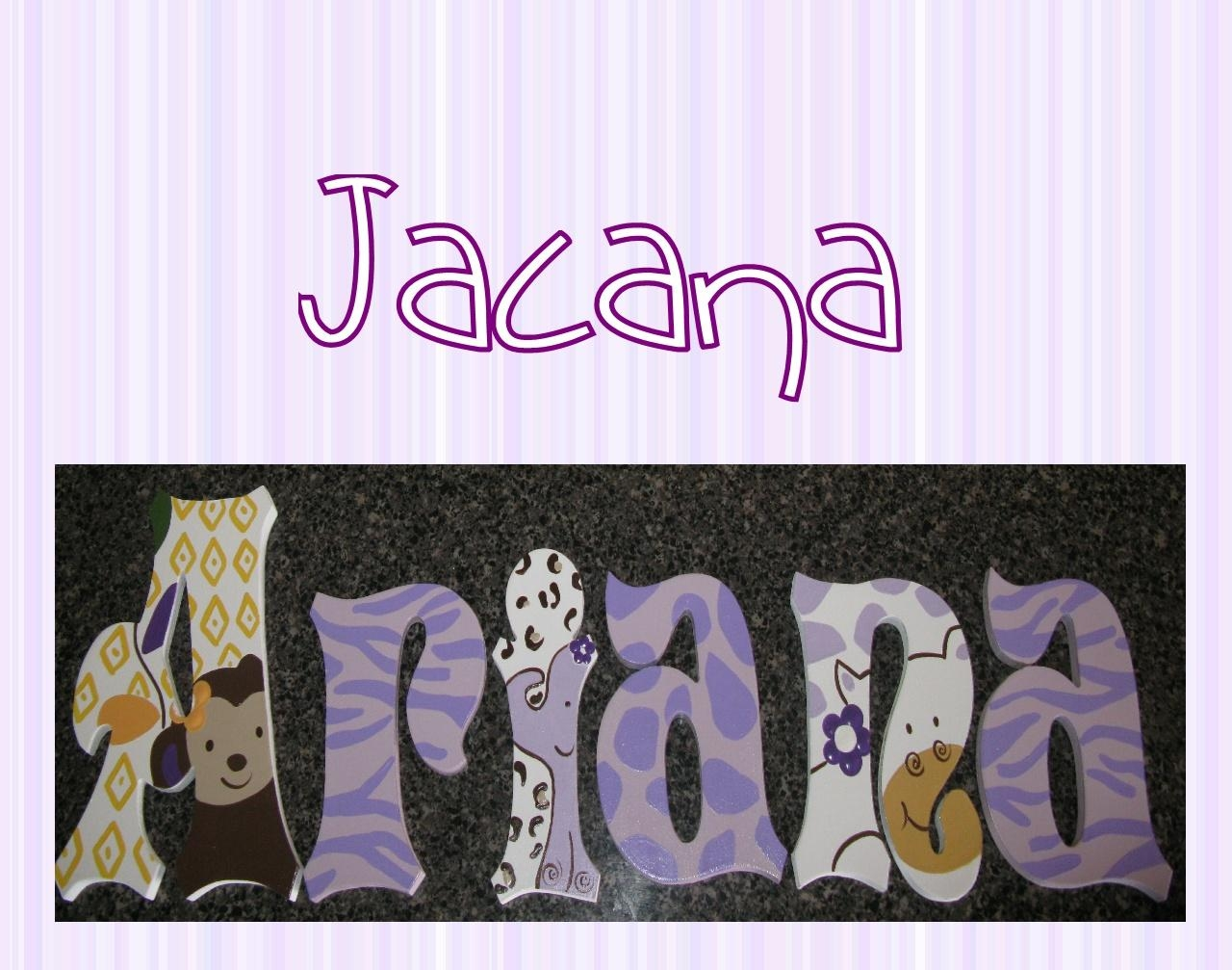 The Funky Letter Boutique: Top Girl Letter Designs Intended For Cocalo Jacana Wall Art (Image 7 of 10)