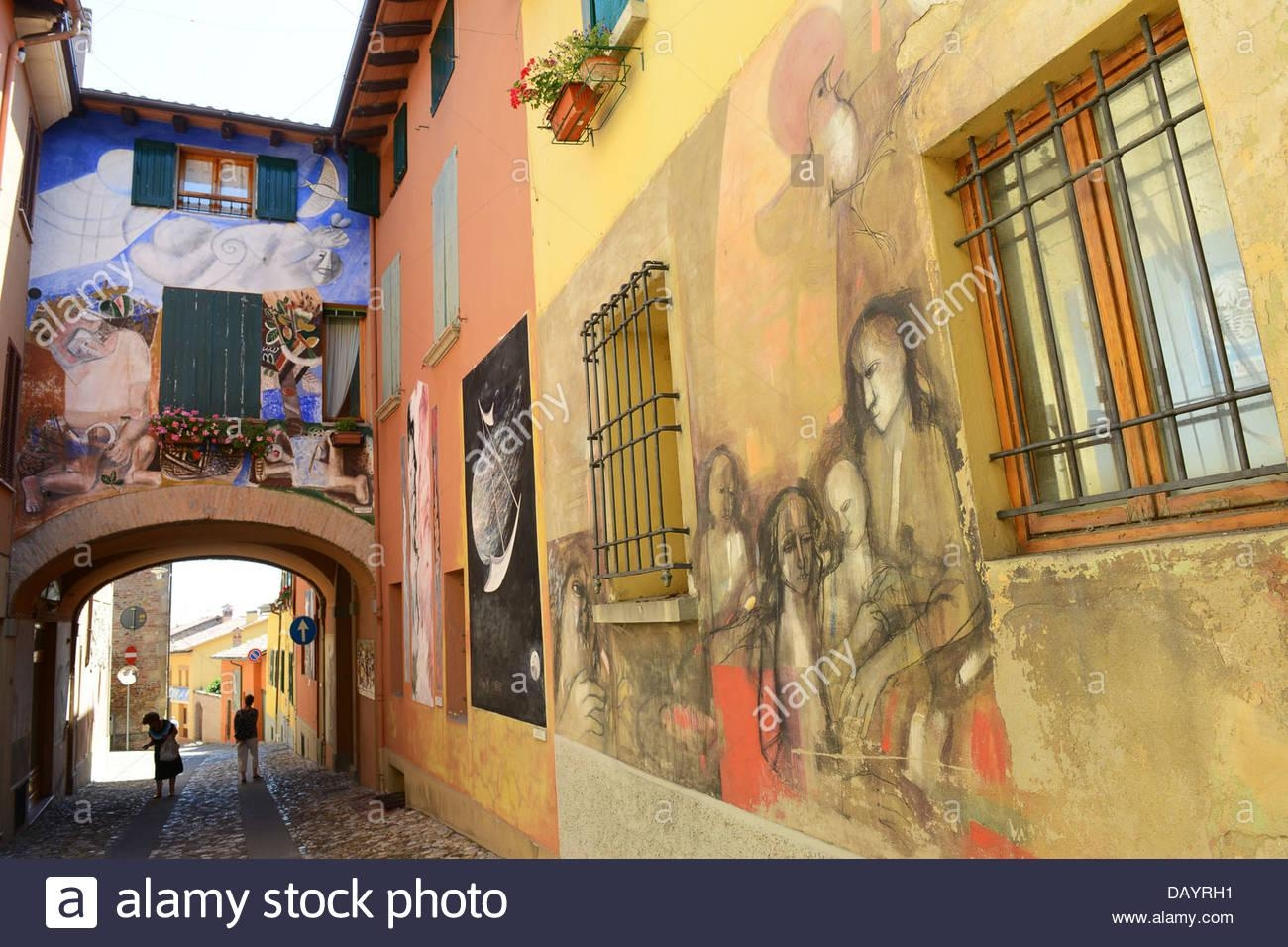 The Italian Hilltop Village Of Dozza In Italy Known For Its With Italian Art Wall Murals (View 5 of 20)