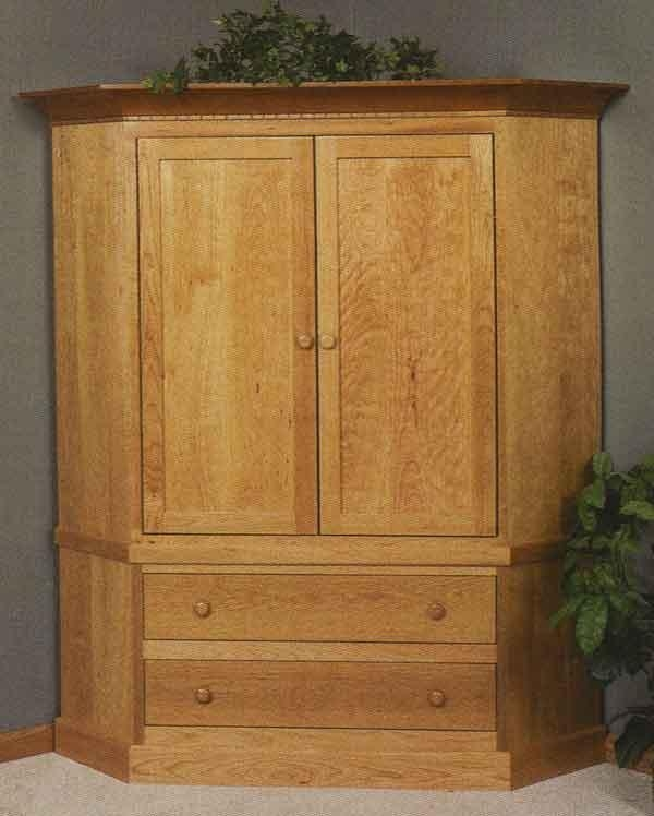 """The Pleasant Hill 32"""" Tv Corner Cabinet – Clear Creek Furniture Pertaining To 2017 Tall Tv Cabinets Corner Unit (View 20 of 20)"""