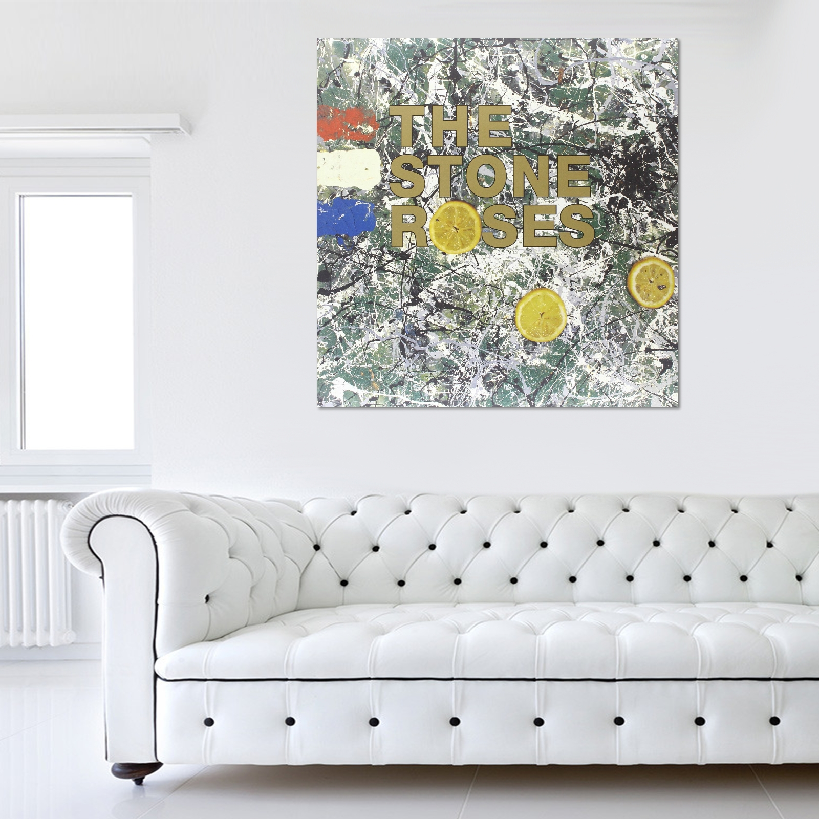 The Stone Roses Album Cover Canvas With Regard To Album Cover Wall Art (Image 18 of 20)