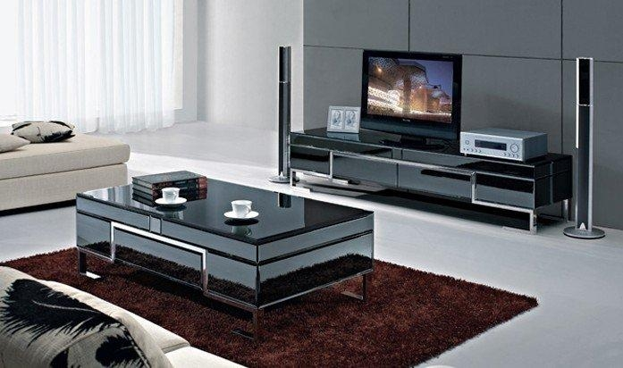 The Stylish Simplicity Of Stainless Steel Black Painted Tempered Intended For Best And Newest Stylish Tv Stands (Image 14 of 20)