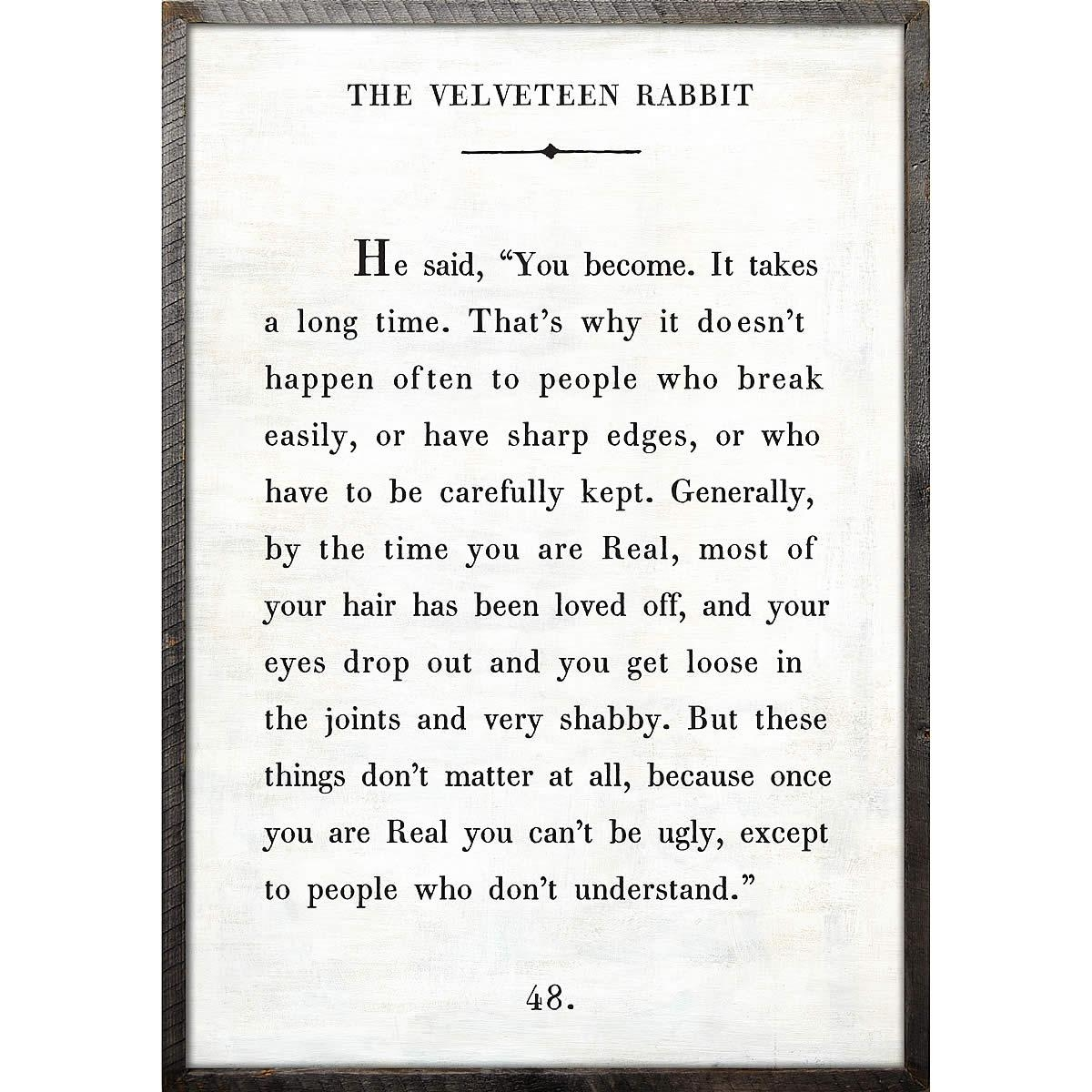 The Velveteen Rabbit Art Print – Sugarboo And Co Designs Throughout Velveteen Rabbit Wall Art (Image 9 of 20)