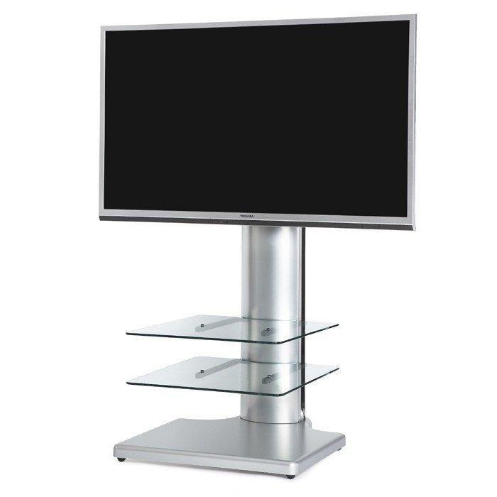 "The Wall Origin S2 Cantilever Tv Stand In Silver For Tv's Up To 55"" Intended For Most Recently Released Cantilever Tv Stands (Image 15 of 20)"