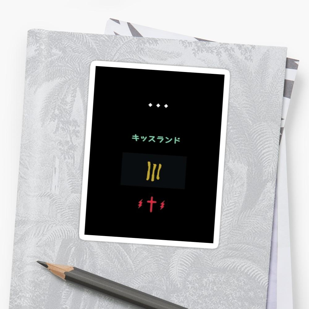 "The Weeknd Album Artwork Minimalistic"" Stickerslittlepcreative Regarding The Weeknd Wall Art (Image 9 of 20)"