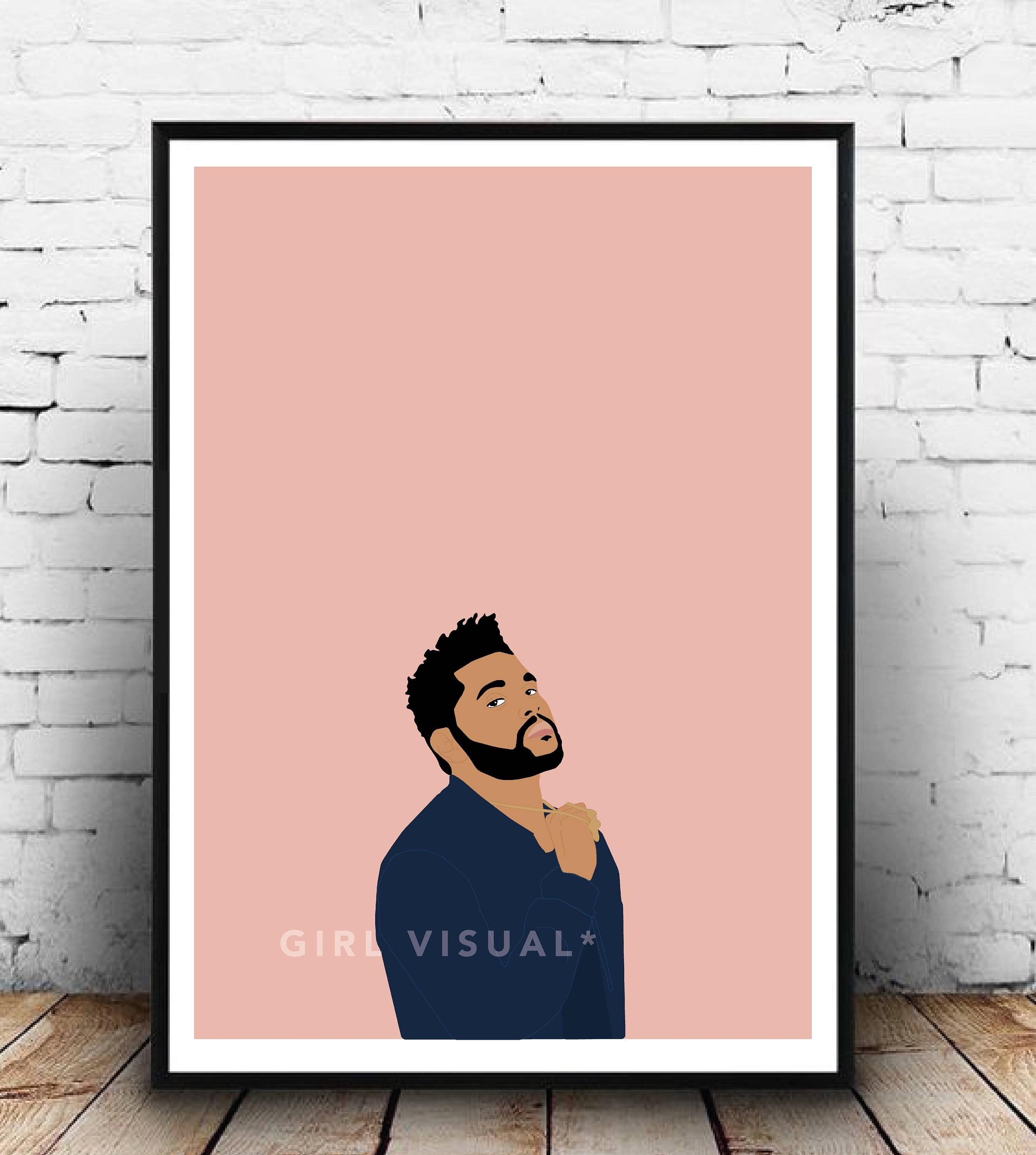 The Weeknd Merch The Weeknd Poster The Weeknd Print The Pertaining To The Weeknd Wall Art (View 4 of 20)