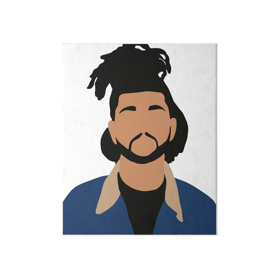 "The Weeknd Minimalist Illustration "" Art Boardschris Jackson In The Weeknd Wall Art (Image 12 of 20)"
