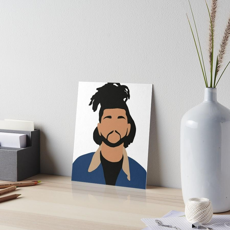 "The Weeknd Minimalist Illustration "" Art Boardschris Jackson In The Weeknd Wall Art (Image 11 of 20)"