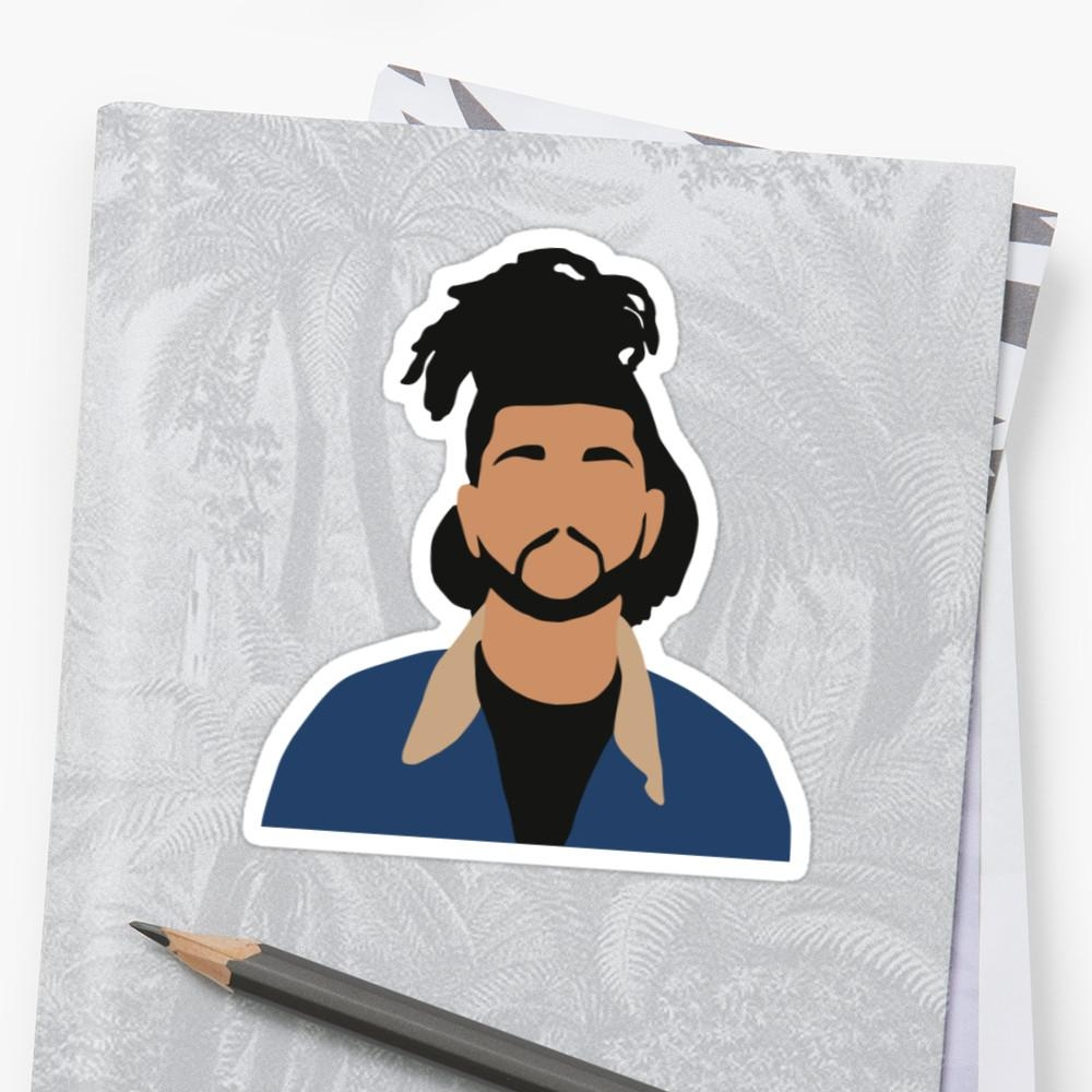 "The Weeknd Minimalist Illustration "" Stickerschris Jackson Pertaining To The Weeknd Wall Art (View 14 of 20)"