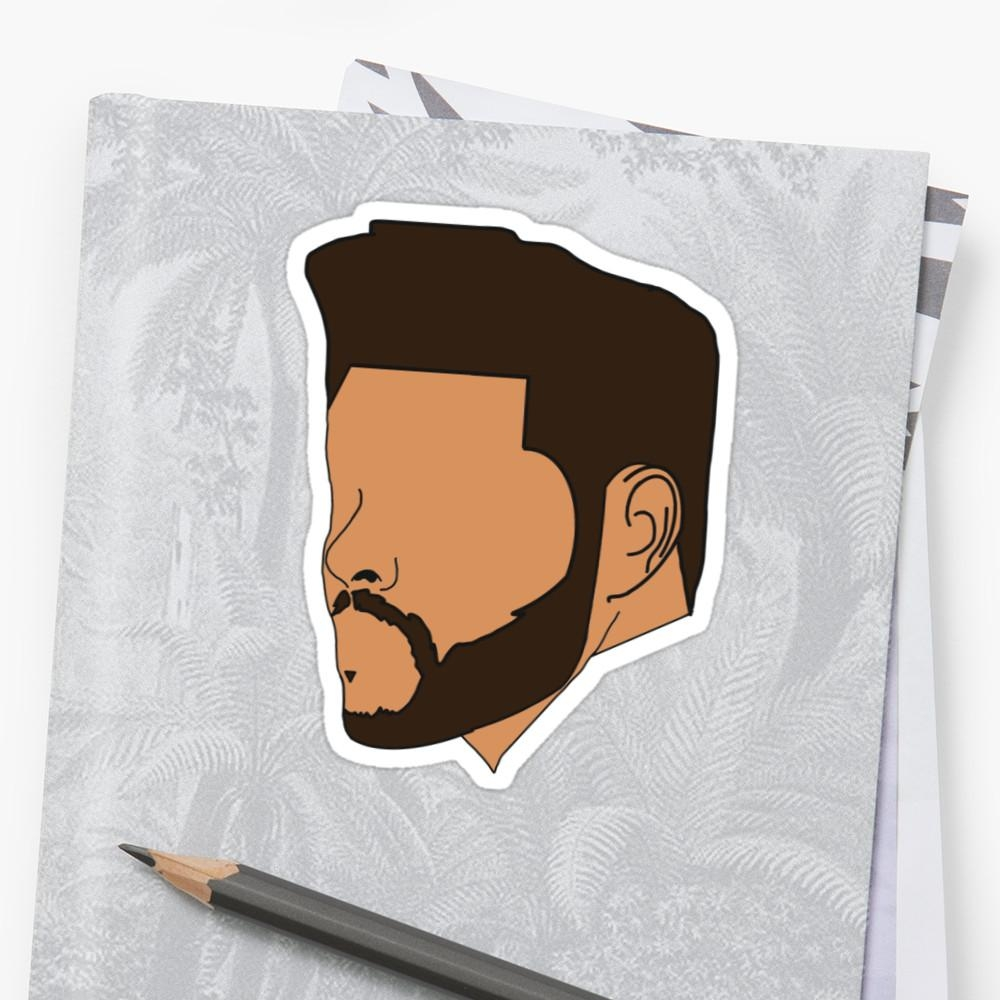 "The Weeknd Outline V2"" Stickersrelentlessxo 