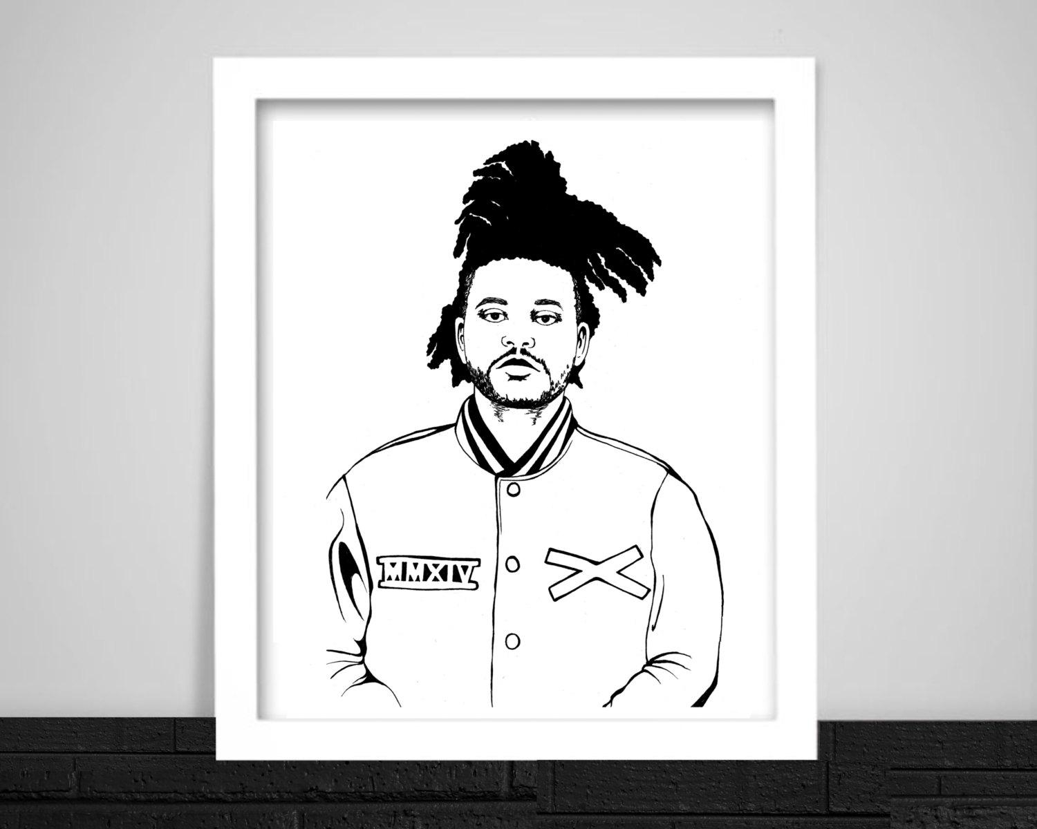The Weeknd Print Inside The Weeknd Wall Art (Image 15 of 20)
