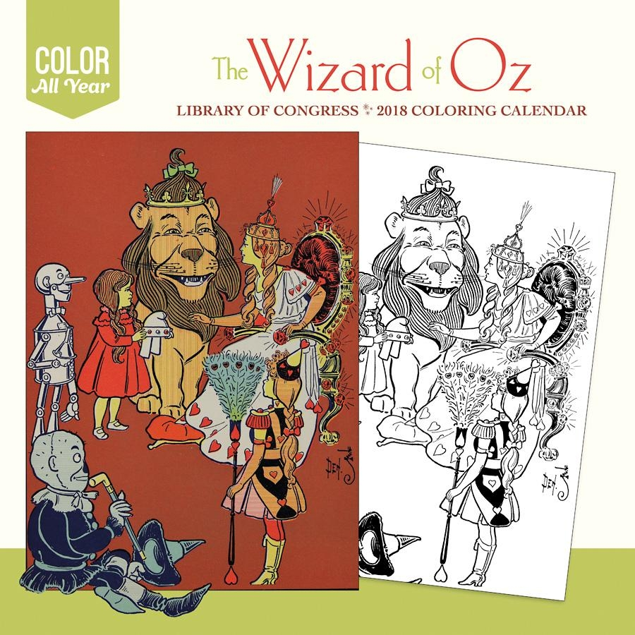 The Wizard Of Oz 2018 Coloring Wall Calendar Inside Wizard Of Oz Wall Art (Image 14 of 20)