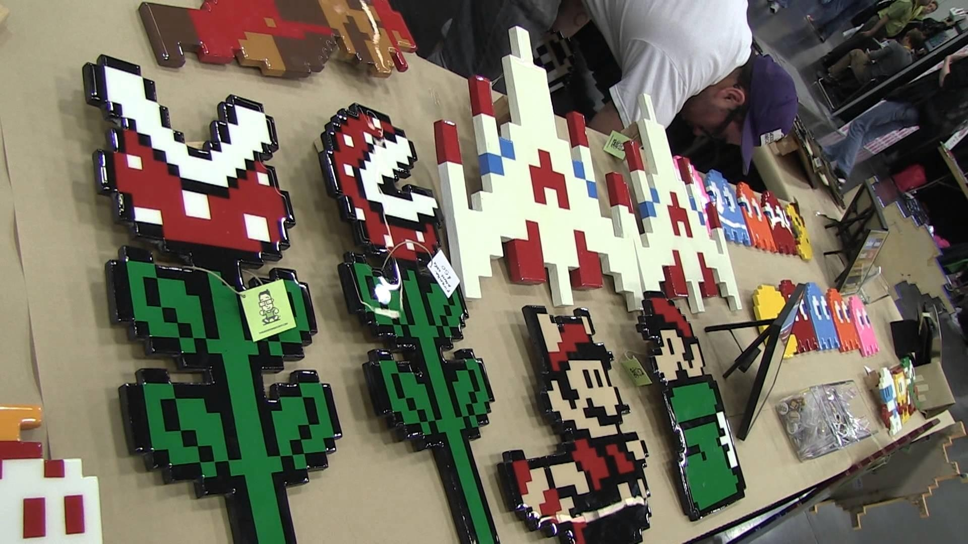 The Wooden Arcade (Handmade Wooden Pixel Art) – Youtube With Regard To Arcade Wall Art (Image 16 of 20)