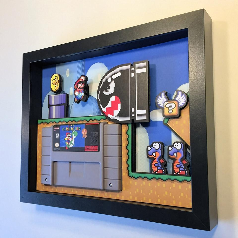 These Arcade Game Shadow Boxes Are Simply Awesome – Technabob In Arcade Wall Art (View 7 of 20)