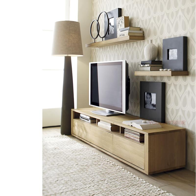 Thick Oak Furniture Factory Direct Small Tv Cabinet Scandinavian With Regard To Most Recently Released Scandinavian Design Tv Cabinets (View 14 of 20)