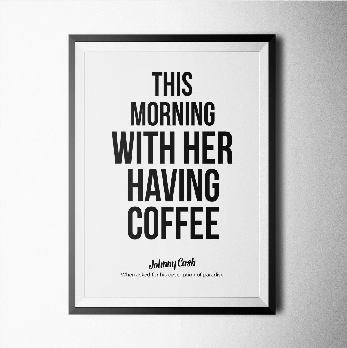 This Morning With Her Having Coffee, Johnny Cash – Poster, Print With Regard To Johnny Cash Wall Art (View 11 of 20)