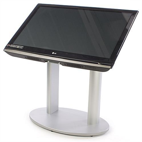 This Tv Stand Is An Interactive Display For Large Establishments Intended For Newest Silver Tv Stands (Image 15 of 20)