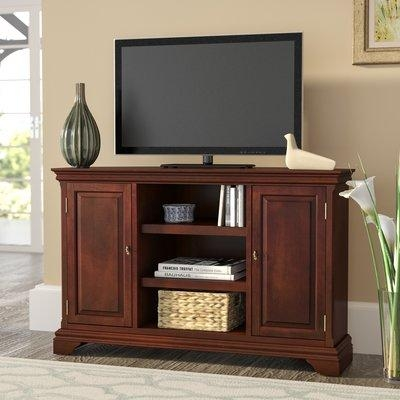 Three Posts Curran Corner Tv Stand & Reviews | Wayfair Intended For Most Recently Released Corner Tv Stands For 55 Inch Tv (Image 15 of 20)