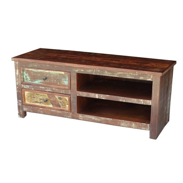 Timbergirl Multicolor Recycled Wood Tv Stand - Free Shipping Today intended for Most Popular Recycled Wood Tv Stands