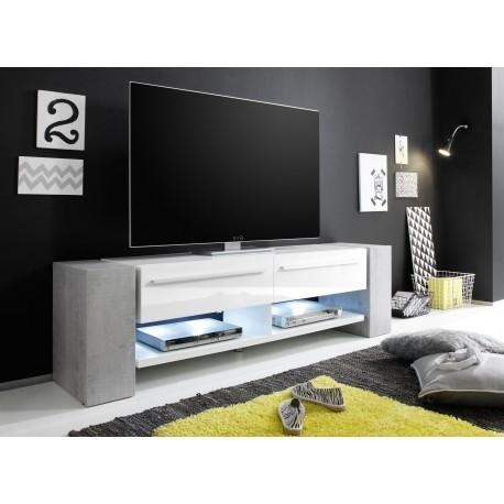 Time – White Tv Stand With Stone Imitation Legs – Tv Stands – Sena For 2017 White Tv Stands (View 7 of 20)