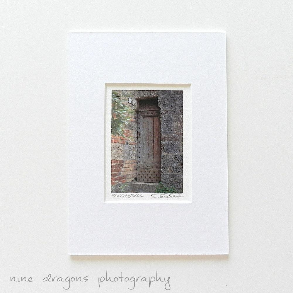 Tiny Matted Print 5X7 Italian Photography Door Photography With Italian Wood Wall Art (Image 17 of 20)