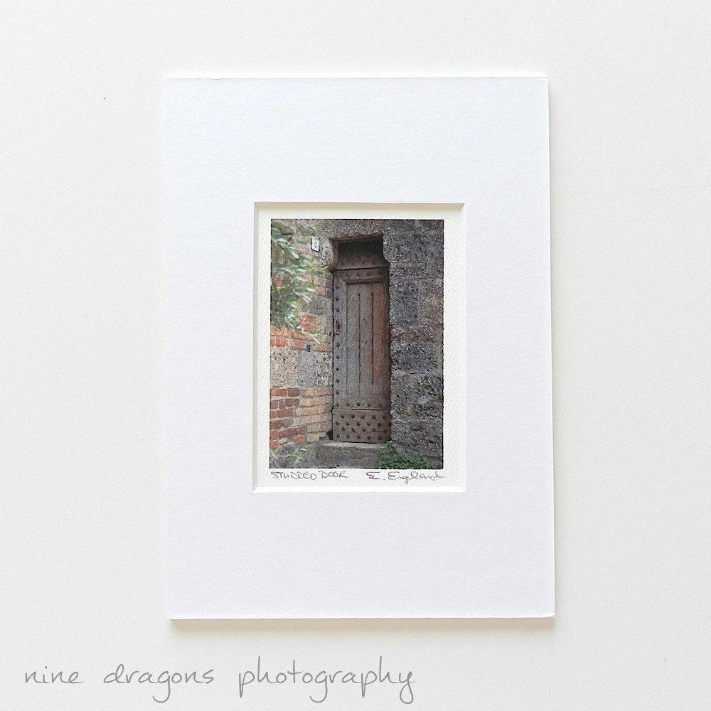 Tiny Matted Print 5X7 Italian Photography Door Photography With Italian Wood Wall Art (Image 17 of 20)