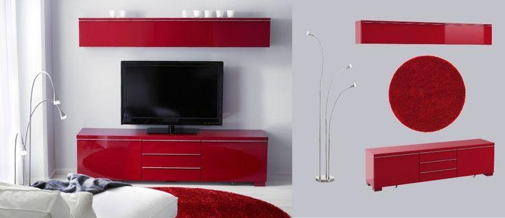 Featured Image of Red Gloss Tv Cabinet