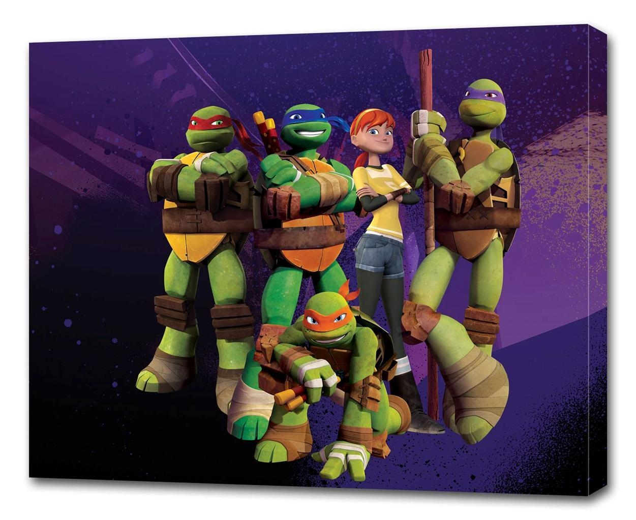 Tmnt Ninja Turtles Canvas Print Wall Decor Art Giclee Kids Bedroom Throughout Tmnt Wall Art (Image 16 of 20)
