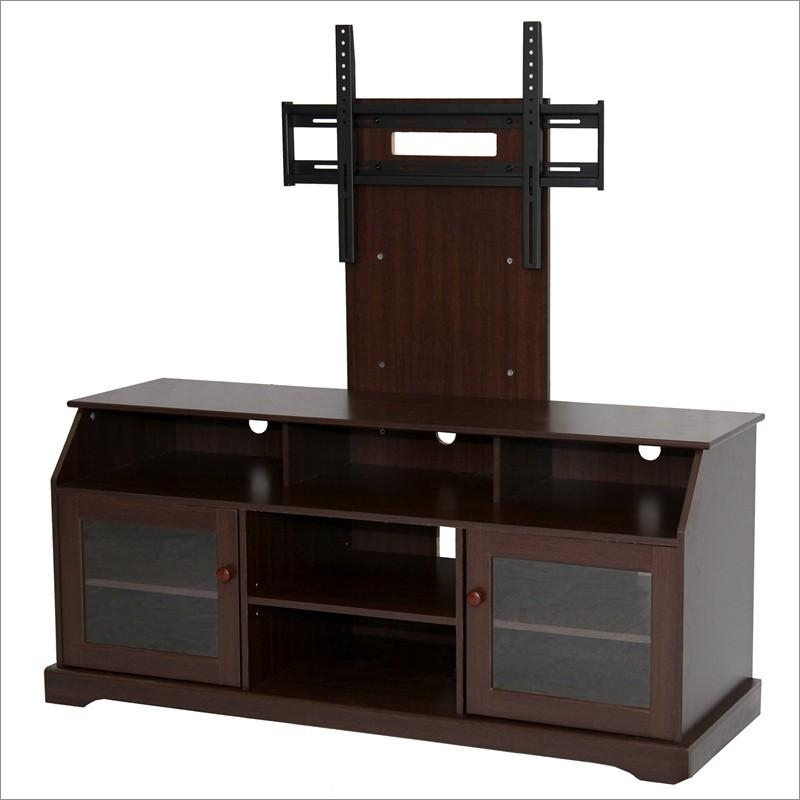Tobacco Tv Stand With Mounthome Source Tv11303 W/ Mount Intended For Best And Newest Tv Stand With Mount (Image 13 of 20)