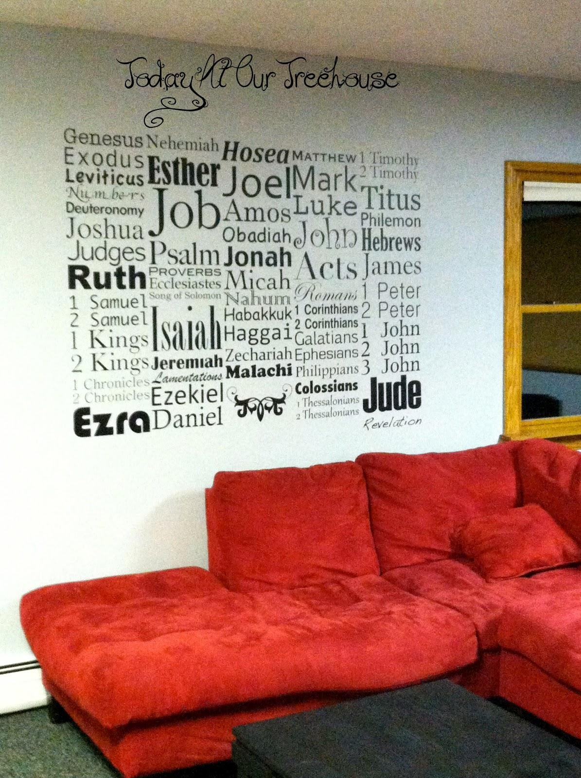 Today At Our Treehouse: Books Of The Bible Wall Art Intended For Biblical Wall Art (View 19 of 20)