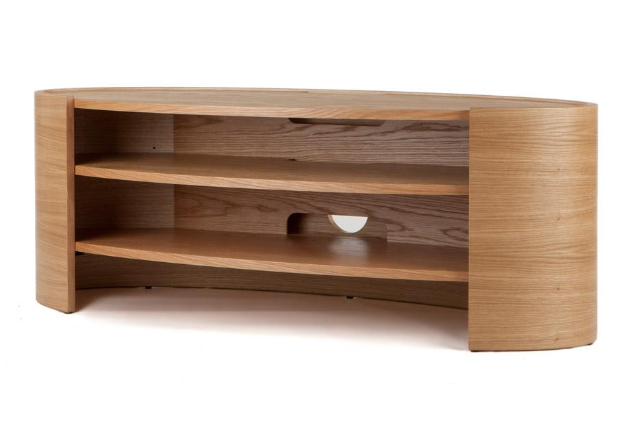 Tom Schneider Elliptic 1400 Natural Oak Hand Made Tv Stand – Wood Inside Current Large Oak Tv Stands (Image 14 of 20)