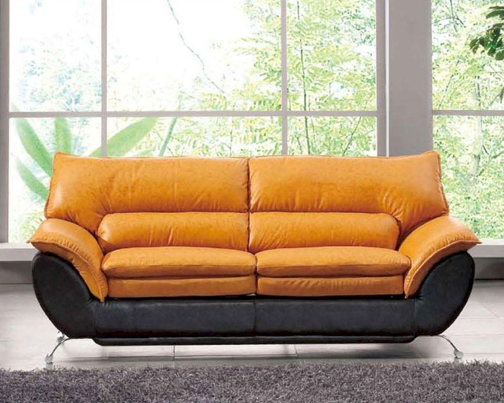 Tone Italian Leather Sofa Bed European Design 33Ss222 Regarding European Leather Sofas (View 18 of 21)