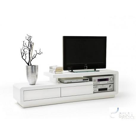 Tony – High Gloss Tv Unit – Tv Stands – Sena Home Furniture Inside Newest White High Gloss Corner Tv Unit (Image 12 of 20)