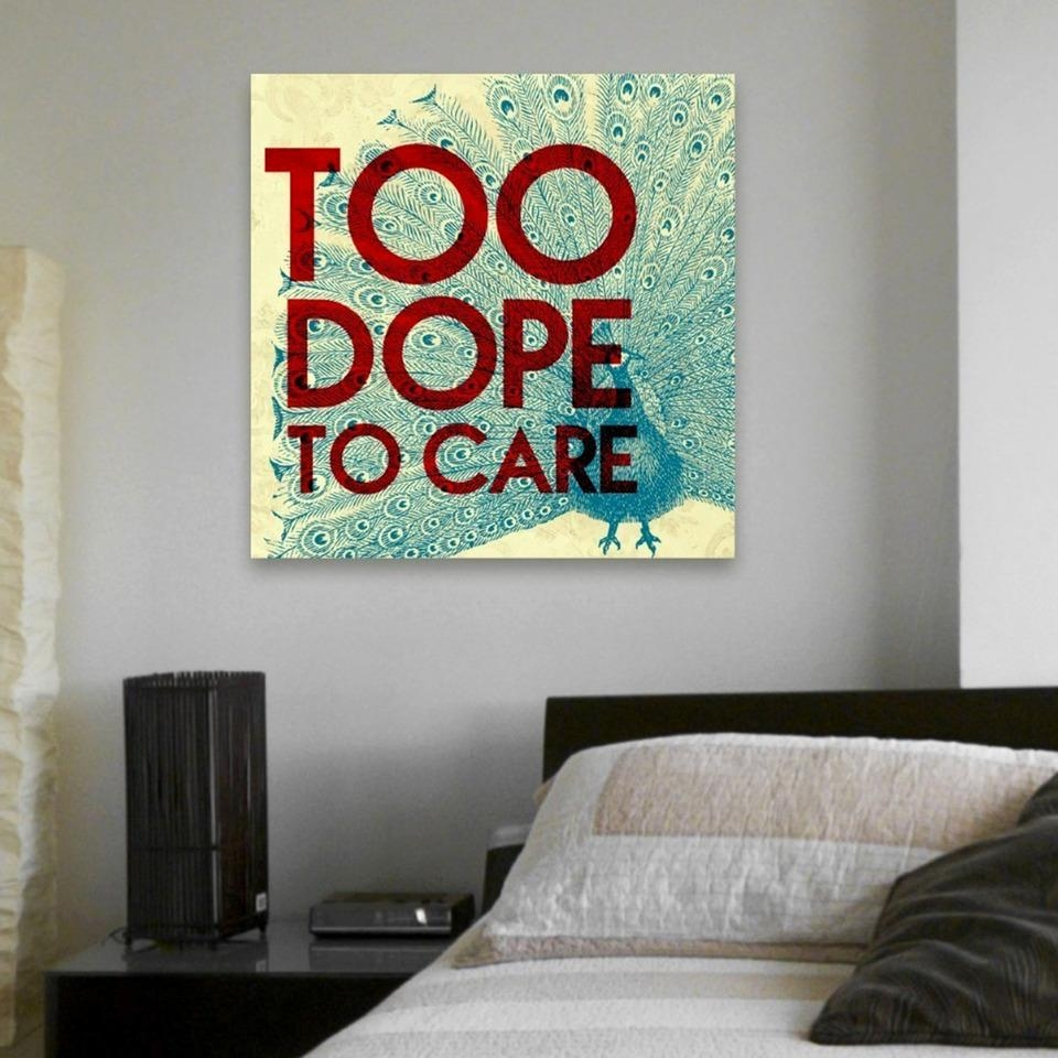 "Too Dope, Canvas Art (20""x20"") Intended For Dope Wall Art (Image 18 of 20)"