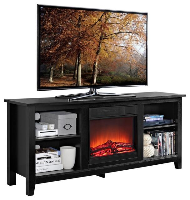 Top 10 Best Electric Fireplace Tv Stand Reviews:[2017 Guide] For Current Square Tv Stands (View 20 of 20)